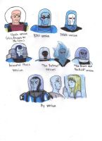 Different Styles of Mr. Freeze by KessieLou