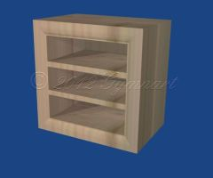 Wood Shelf w/routered edges by Gymnart