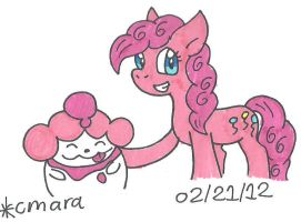 Pinkie and Slurpuff
