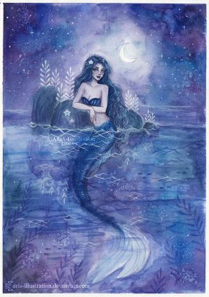 Moonlight Mermaid by ARiA-Illustration
