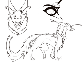 Fantasy Wolf Lines by jaclynonacloudlines