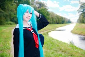 School Girl Miku III by EnchantedCupcake