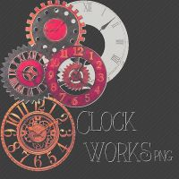 Clock Works PNG by milkyanunnie
