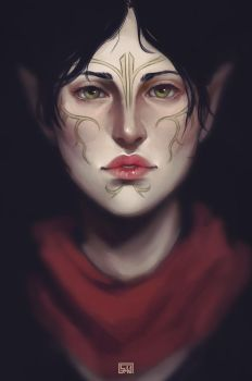 Dragon Age: Merrill by PandaleonSaa