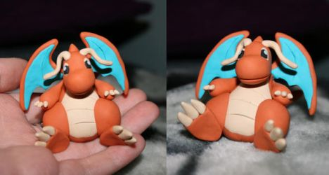 Fimo Dragonite by rachelled