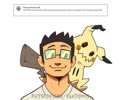 Weekly Doodles - Favourite Pokemon (Mike) by RandoWis