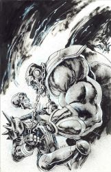 Thanos vs Cosmic Ghost Rider by Panagiotis Vlamis by weaselpa