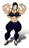 Yukino Tomioka - front double bicep flex color by rssam000