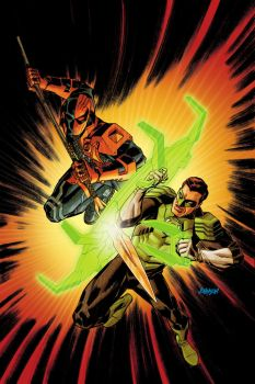 Deathstroke VS Green Lantern by Devilpig