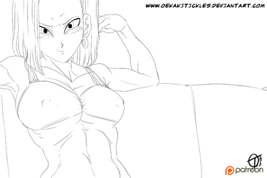 Android 18 Foot Tease ANIMATION Part 1 - DBZ by MichaelScottCannon