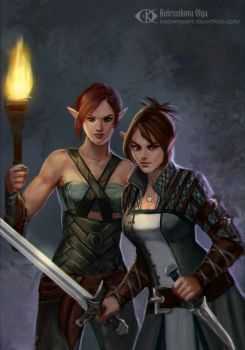 Emma and Rilla (Commission) by IcedWingsArt