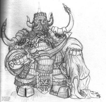 Chaos Dwarf Champion by KnightInFlames