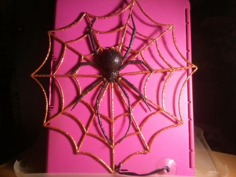 My first Glittering Spider Web by BenorianHardback26