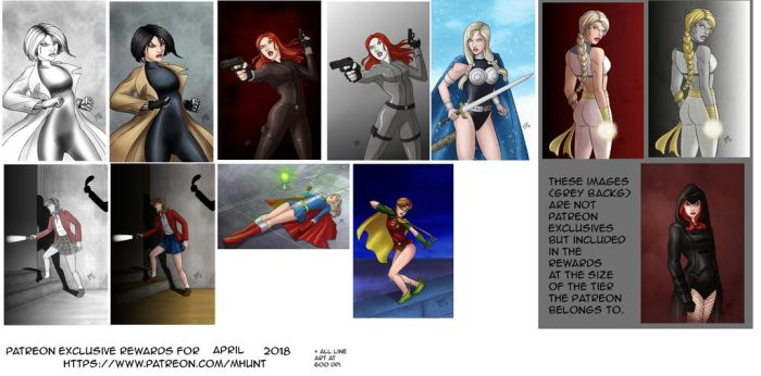 Patreon Rewards for April 2018 by mhunt