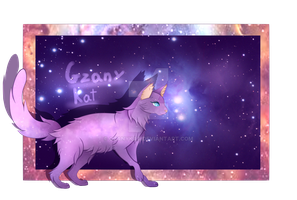 Chrono, the space-time cat by GzanyKat