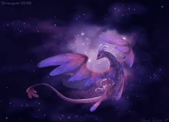 Smaugust #20 - Fairy dragon by Floverale-Hellewen
