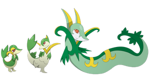 Snivy, Servine, and Seperior