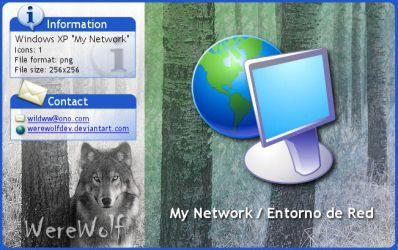 Windows XP My Network by werewolfdev