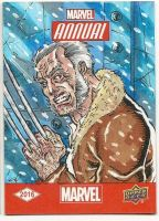 Upper Deck Old Man Logan Sketch Card  by aldoggartist2004