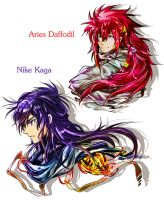 Nike and Aries by saintcosevent
