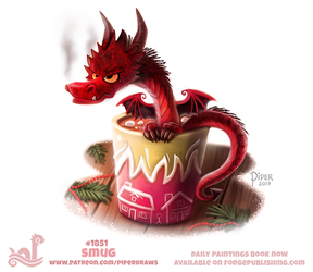 Daily Paint 1851# Smug by Cryptid-Creations