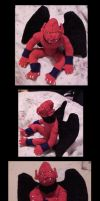2004 Old Red Arremer plush by Silver-Ray