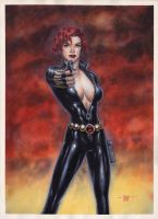 Black Widow - Watercolors by edtadeo