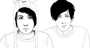 Danisnotonfire and AmazingPhil by Golden-Plated