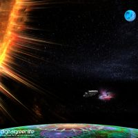fractal space by digitalgreenlifeart