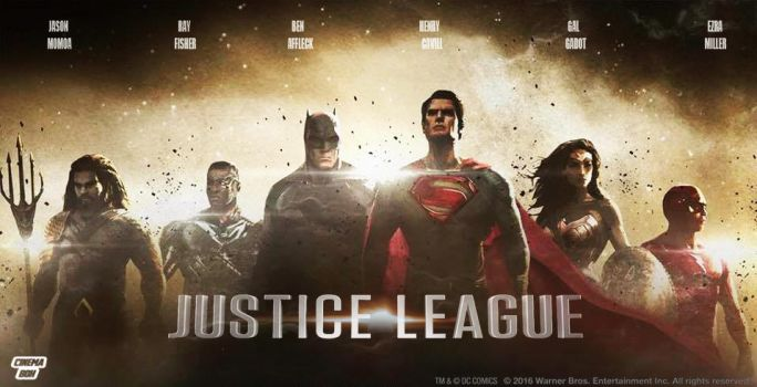 The Justice League official  Movie  Banner by Bryanzap