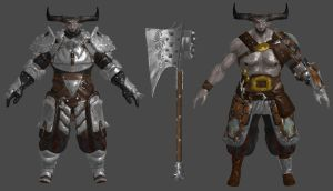 DAI The Iron Bull Armour and Bull's Edge XPS by Padme4000