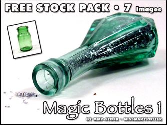 FREE STOCK, Magic Bottles 1 by mmp-stock