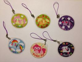 My Little Pony Keychains by PauAndLoma