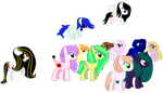 all my oc's #1 by theshadowpony357
