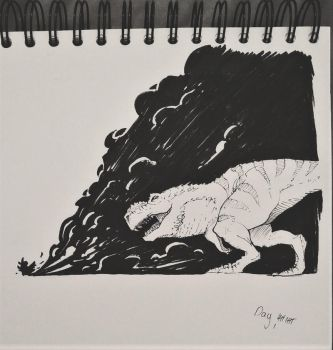 Run - Inktober 2017 by WinterGoesDraw