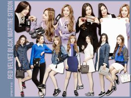 Red Velvet Black Martine Sitbon 10P png PART2 by hyukhee05