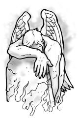 Angel Weeping Tattoo Flash by TheMacRat