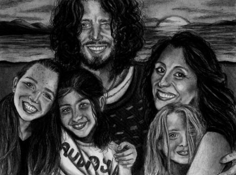 Chris Cornell and Family by GalleyArts
