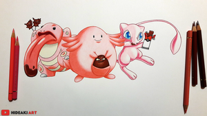Mew, Lickitung and Chansey || Pokemon