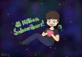 Congratulations for 19 Mio Subs Jack! by FeriFairy