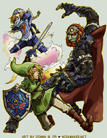 SSBBrawl: Zelda Team by karniz