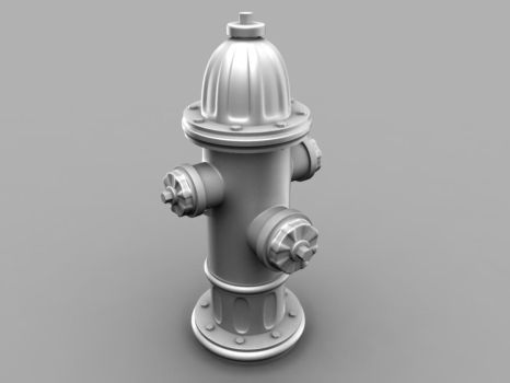 High Poly Fire Hydrant by tanka2d