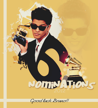 Bruno Mars Grammy Banner by inmany