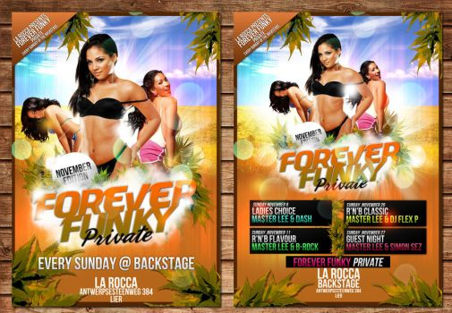 forever funky flyer november by Adriano09
