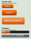 Patreon Button and Goal Meters by GillianIvy