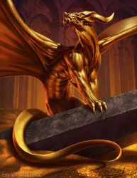 Aurum, Gen Con 50 Golden Dragon by SteveArgyle