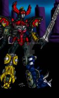 Biomechanical Megazord by blueliberty