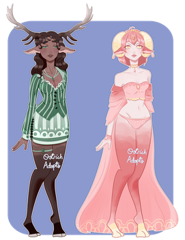 Faun Auction Adopts [ #1 OPEN ] by OstrichAdopts