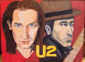 U2:  Bono and The Edge by modastrid