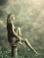 Lonely statue by mary-petroff